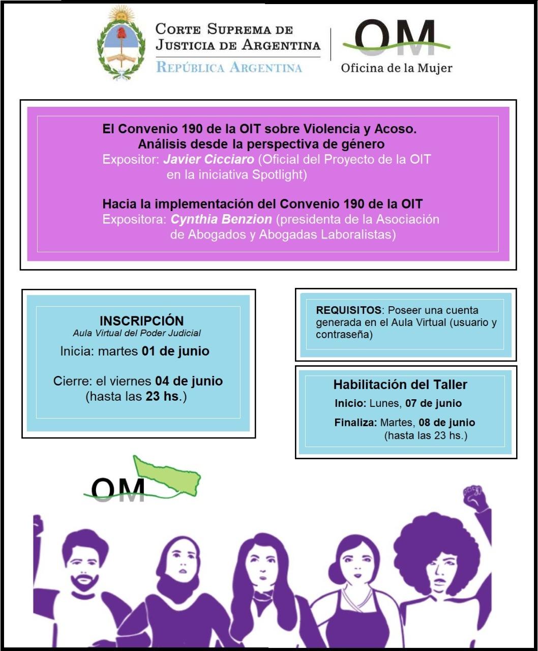 """Segunda Videoconferencia de la CSJN: """"El Convenio 190 de la OIT sobre violencia y acoso laboral"""""""
